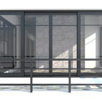 baie vitree et garde corps